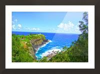 Kilauea Lighthouse in Spring on the Island of Kauai Picture Frame print