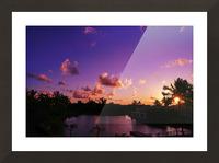 Sunrise over the Lagoon in Kauai Picture Frame print