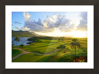 Sunset over Kukii Point on the Island of Kauai in Hawaii Picture Frame print