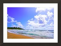 Wild Day at Wailua Beach on the Island of Kauai Picture Frame print