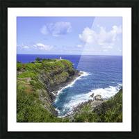 Kilauea Lighthouse on the Island of Kauai Square Picture Frame print