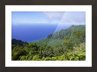 Blue Skies Puu O Kila Lookout Kohala Mountains on the Island of Kauai in Hawaii Picture Frame print