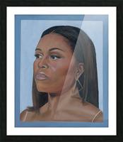 Michelle Obama Portrait Picture Frame print