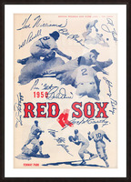 1950 Boston Red Sox Score Book Canvas Art Picture Frame print