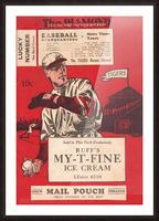 1933 Detroit Tigers Score Card Art Picture Frame print