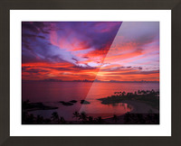 Euphoria Before Bliss - 2013 ARTWORK OF THE YEAR WINNER - Pink and Orange Kissed Skies over Hawaii at Sunset Picture Frame print