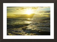 Sunlight and Shadows Play in the Waters at the Bay Picture Frame print