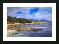 Carmel Coastline Picture Frame print