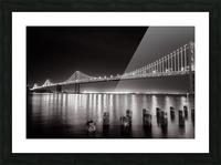 Bay Bridge Black & White Picture Frame print