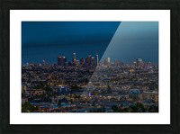 Los Angeles At Night Picture Frame print
