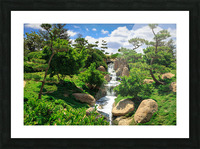 Garden Waterfall Picture Frame print