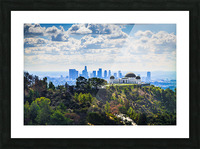 Overlooking Griffith Observatory Picture Frame print