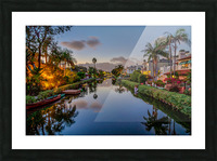 Venice Canal At Twilight Picture Frame print