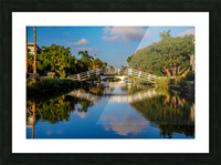 Venice Canal Picture Frame print