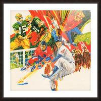 1971 Retro Sports Art Picture Frame print