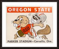 1970 Oregon State Beaver Ticket Stub Remix Art Picture Frame print