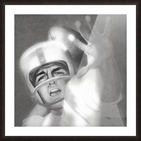 1960 Lon Keller Quarterback Remix Art Picture Frame print