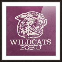 Retro Eighties KSU Wildcats Art Picture Frame print
