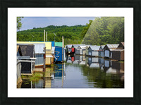 Hangars    bateaux - Boathouses Picture Frame print