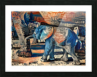 The Posterized Elephant Picture Frame print