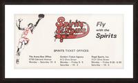 1976 Spirits of St. Louis Basketball Team Art Picture Frame print