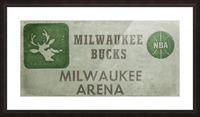 1977 Milwaukee Bucks Ticket Stub Remix Art Picture Frame print
