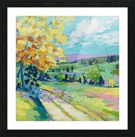 Farm Road Picture Frame print