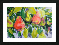 Too Many Pears Picture Frame print