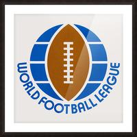 1974 World Football League Logo Art Picture Frame print