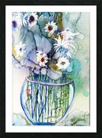 Blue Floral Impression et Cadre photo