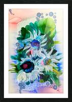 Floral Burst Impression et Cadre photo