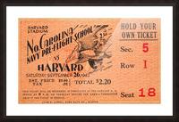 1942 Harvard Crimson vs. North Carolina Pre-Flight Cloudbusters Picture Frame print
