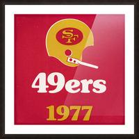 1977 San Francisco 49ers Helmet Art Picture Frame print