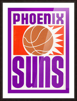 1970 Phoenix Suns Basketball Art Picture Frame print