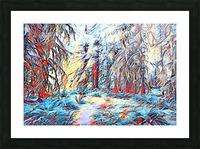 Hoh Rainforest Picture Frame print