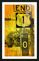 Key West Mile 0 Picture Frame print