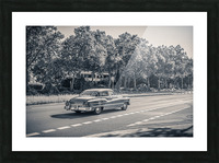 American oldtimer car from the 1950s Picture Frame print
