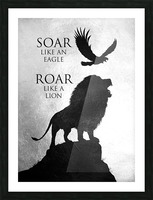 lion and eagle Motivational Wall Art Picture Frame print