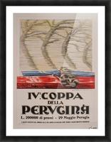 Italian Art Deco Period Race Car Poster by Federico Seneca, 1927 Picture Frame print