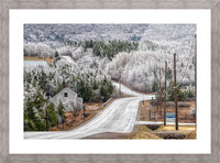 Cheticamp Ice Storm Picture Frame print