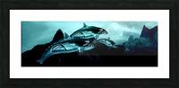 ORCAS LUNARES WIDE 3 Picture Frame print