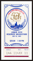 1983 Baseball All-Star Game Ticket Art Picture Frame print