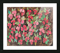 Redflowers Picture Frame print