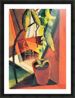 A look into summer-house by August Macke Picture Frame print