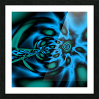 Wormhole approach Picture Frame print