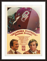1977 Oklahoma Football Show Ad Barry Switzer  Picture Frame print