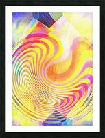 Multicolored Experimental Headache 21 Picture Frame print