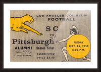 1959 Pittsburgh Panthers vs. USC Trojans Picture Frame print