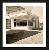 Urban Loneliness - The Gas Station Picture Frame print