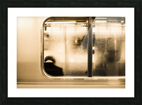 Urban Loneliness - Metro Picture Frame print